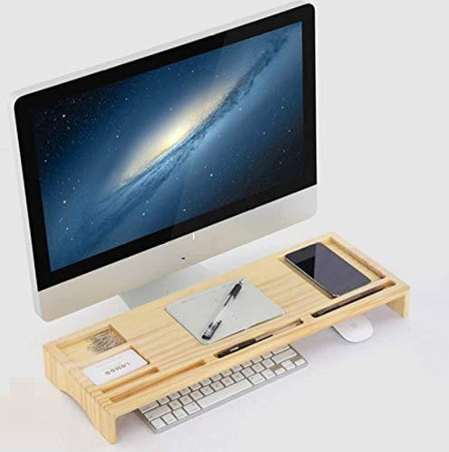 FUGUOGUO Desktop Organizer, Notebook-Computer-Monitor aus Holz Erhöhen Sie Halterung Tastatur Speicherhalterung, Multifunktions-Desktop-Aufbewahrungsbox Base (Notebook-tastatur-einheit)