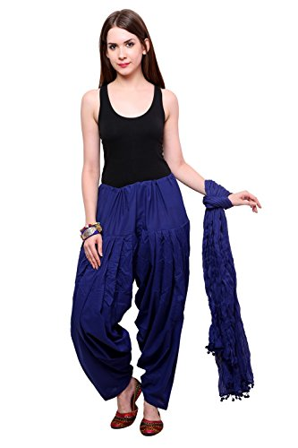 Pistaas Full cotton Patiala Salwar With Dupatta (ROYAL BLUE,PPWDRB)