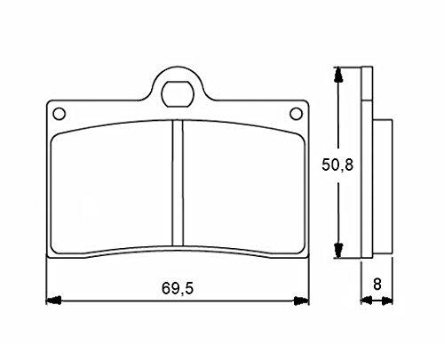 Accossato AGPA32EV1-143 Pastiglia Freno per Revtech > Wilwood Caliper Front/Rear