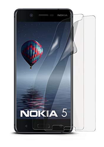 2X Nokia 5 | Schutzfolie Matt Display Schutz [Anti-Reflex] Screen Protector Fingerprint Handy-Folie Matte Displayschutz-Folie für Nokia 5 Displayfolie (Nokia X Screen Guard)