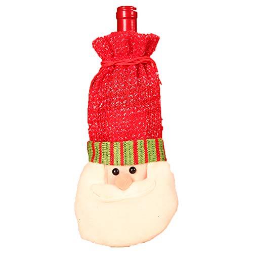 (Ouken 1pc Weihnachts-Rotweinflasche Beutel Weinflasche Deckel für Weihnachten kicthen Dekoration (Alter Mann))