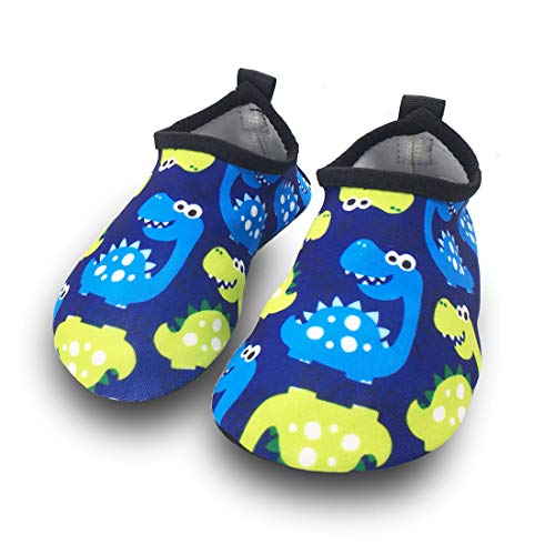 Dream Bridge Unisex Kinder Badeschuhe Wasserschuhe Surfschuhe Sommer, Dinosaurier-blau, Gr.: 19-21 EU/ Herstellergröße : 22-23