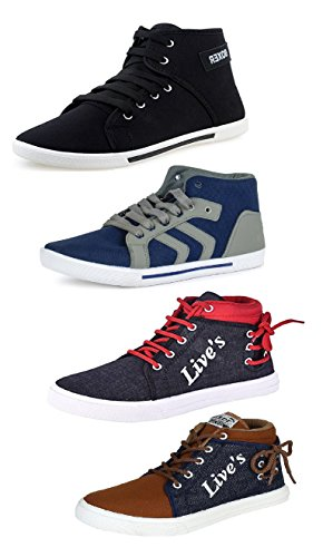 Tempo Men\'s Combo Pack of 4 Sneakers Shoes-7