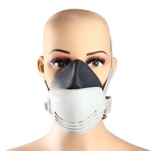 Latinaric 1pc Gummi Staub Atemschutzmaske Halbmaske Gasmaske Sicherheit Maske mit Aktivkohlefilter