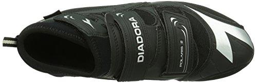 Diadora - Polaris 2, - Unisex – Adulto Nero (Schwarz (schwarz/silber 7870))