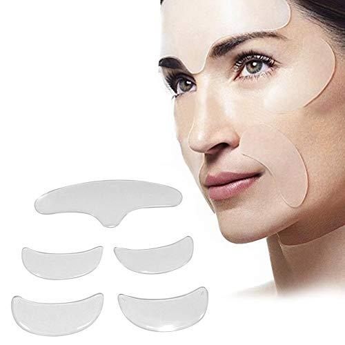 5 stücke Anti-falten-pad, Silikon Augen Gesicht Stirn Aufkleber, Unsichtbare Hebe Anti-aging Eliminate Falten Gesicht Remover Streifen - Quiet.T -