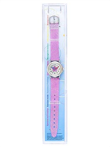 Kiddus Kinder Mädchen Uhr Analog Japanischer Quarz Armband mit Glitzer Wasserdicht FAB4 Stern - 4