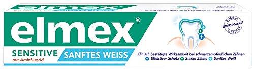 elmex SENSITIVE SANFTES WEISS Zahnpasta, 3er Pack (3 x 75 ml) (Zahnpasta Empfindlich)