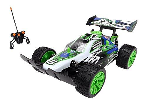 Preisvergleich Produktbild Dickie Spielzeug 201119052 - RC Dirt Slammer, Ready to Run, 2-Kanal Funkfernsteuerung,  26 cm, weiß/grün