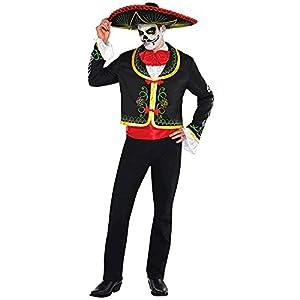 Nueva Amscan para hombre Halloween Senor día de los muertos disfraz infantil de fiesta