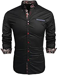 9d33f959137329 Coofandy Men s Fashion Slim Fit Dress Shirt Casual Shirt