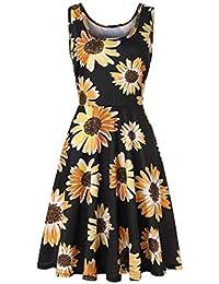 SYGoodBUY Vestido de Verano Elegante para Mujer Vestido de Estilo Oriental Muy abultado (Color :