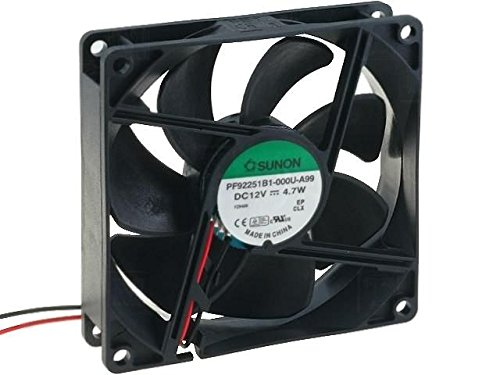 PF92251B1-A99 Fan DC axial 12VDC 92x92x25mm 127.42m3/h 47dBA ball SUNON Ball Bearing Fan Motor