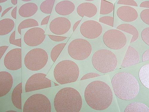 Minilabel - Puntos adhesivos (102 unidades, diámetro 25 mm), color rosa y blanco