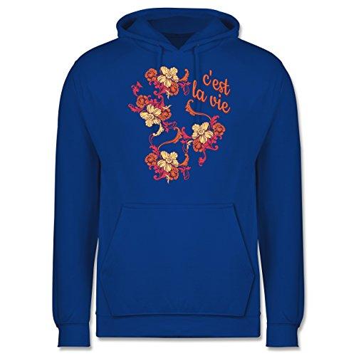 Statement Shirts - C'est la vie - Männer Premium Kapuzenpullover / Hoodie Royalblau