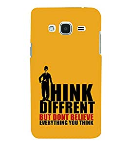Print Masti Designer Back Case Cover for Samsung Galaxy J2 (6) 2016 J210F :: Samsung Galaxy J2 Pro (2016) (Charli Cheplin Think Different)
