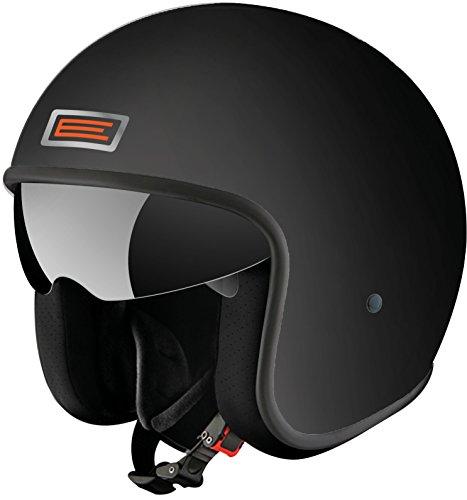 Origine Helmets Casco, Nero Opaco/Arancione, M