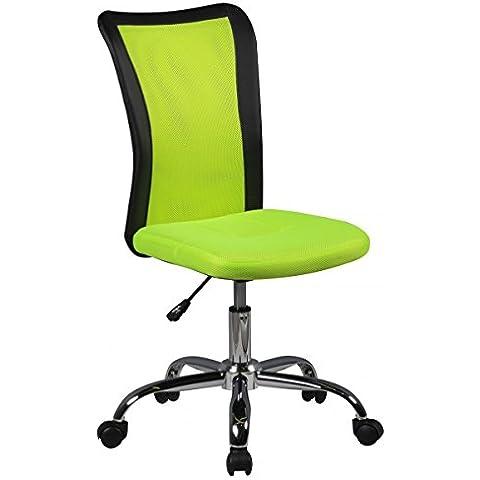 Amstyle bambini scrivania sedia LUKAS per i bambini da 6 a rulli schienale morbido-bottom bambini girevole sedia per bambini sedia da ufficio ergonomica sedia regolabile giovani ragazze dei ragazzi Verde sedia camera dei bambini