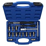 17pc Diesel Injector Seat Cutter Cleaner Universal Injector Re-Face Reamer