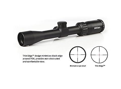 Bosma EDGE 2-7x32 Thin Edge SHOTGUN Scope, Extra-long Eye-relief, 1