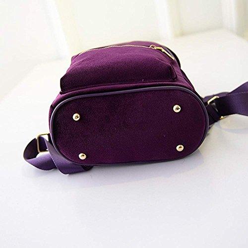 TianranRT ,  Unisex-Erwachsene Damen Unisex-Kinder Rucksackhandtaschen Violett