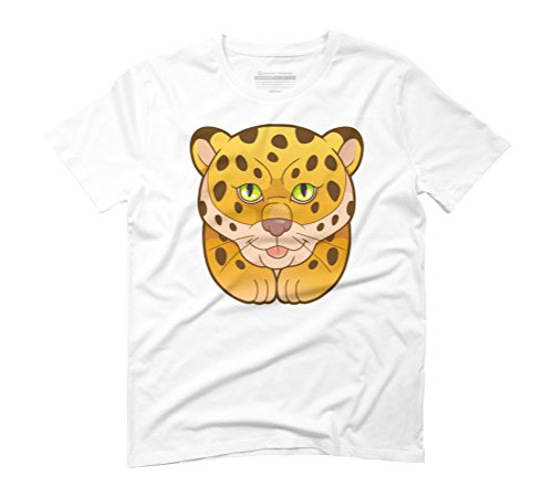 leopard Men's Graphic T-Shirt - Design By Humans White