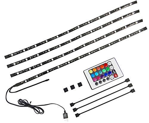 X4-LIFE TV Hintergrundbeleuchtung LED - 46 Zoll bis 77 Zoll - mit Fernbedienung RGB (Tv Led 46)