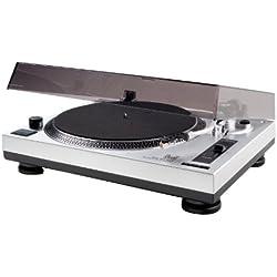 Dual DTJ 301 USB Tocadiscos para DJ (33/45 U/min, control de velocidad, sistema fonocaptor magnético, iluminación de agujas, cable USB), color gris [Importado de Alemania]