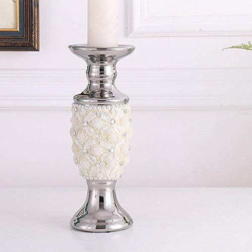 XQY Retro Kerzenständer Dekoration Kerzenhalter Keramik Material Romantische Mode Haushaltsgegenstände Zwei Größen,B (11 * 30cm)