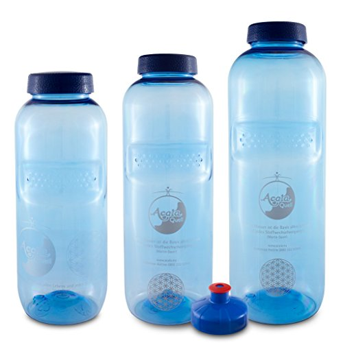 """Acala Trinkflaschen optimal Set""""Grip"""" aus Tritan mit Blume des Lebens"""