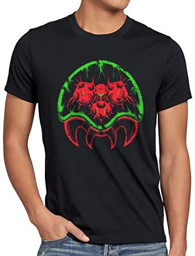A.N.T. Metroid Morph Herren T-Shirt Gamer SNES Samus Aran Switch, Größe:XXL