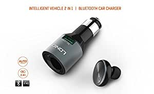Inventis (TM) Ldnio CM20 Intelligent Vehicle 2 in 1 Bluetooth Headset + Car Charger 2.4 A Quick Charge / Auto On-Off
