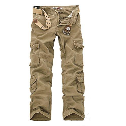 Voguehive -  Pantaloni  - Straight  - Basic - Uomo cachi
