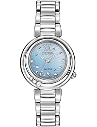 Citizen L Sunrise Diamond Women's Quartz Watch with Mother of Pearl Dial Analogue Display and Silver Stainless Steel Bracelet