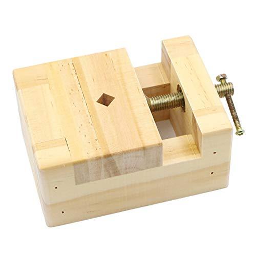 P Prettyia Holz Tisch Bank Schraubstock Hobby Kleine Mini Bank Schraubstock Clamp Schmuck Zange -