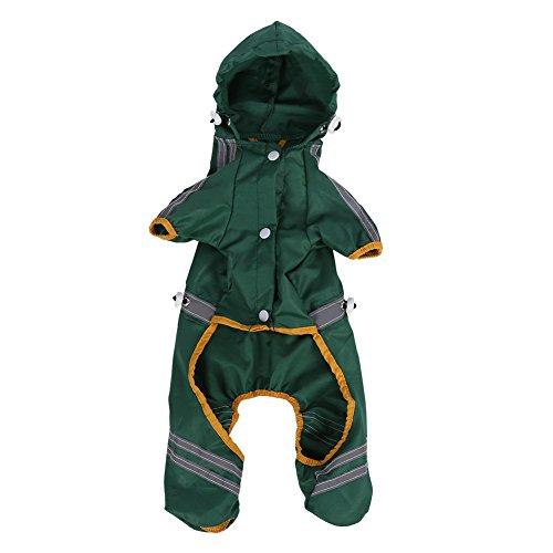 Fdit Impermeabile per animali Giacca per cani Cappuccio per cani Cappotto per pioggia Tuta riflettente Abbigliamento per abbigliamento da esterno(XL)