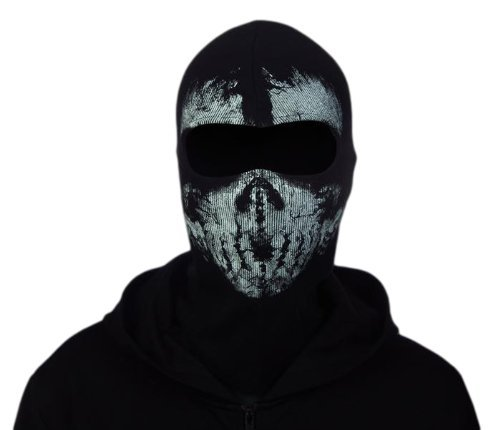 Ghost-like skull face mask / Balaclava Call of Duty GHOST CoD MW2 Sabage (04) by SYA / survival