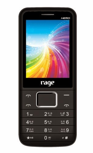 Rage Mobiles Rage hero Dual Sim Mobile black+red Colour