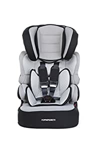 Foppapedretti Babyroad Seggiolino Auto, Gruppo 1/2/3 (9-36kg), per Bambini da 9 mesi fino a 12 Anni circa, Carbon