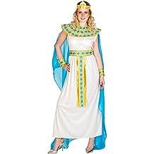 dressforfun Disfraz de Cleopatra para mujer reina diosa   Vestido con cinta de pelo muy extravagante, adorno de cabeza egipcio & adorno para la muñeca (S   no. 300194)