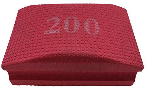 PRODIAMANT Profi Diamant-Handschleifpad / Schleifschwamm Körnung 200 zum schleifen, entgraten und polieren von Fliesenkanten