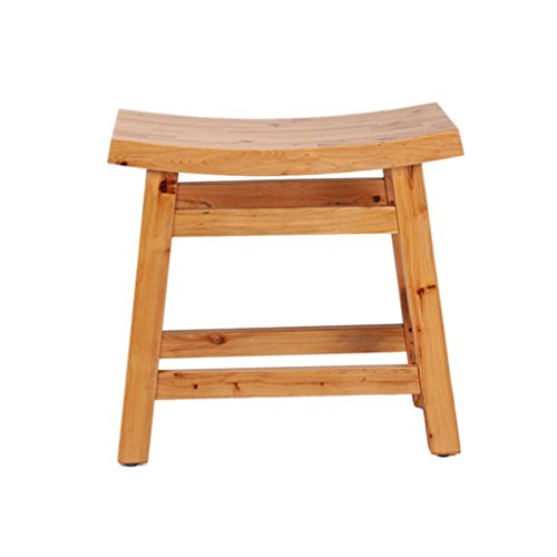 NYDZDM Dusche/Bad Hocker Holz Dusche Sitz ändern Schuhe Bank für ältere/behinderte Anti-Slip Heavy Duty Curved Design Duschsitz Hocker für Dusche/Bad/max. 250kg