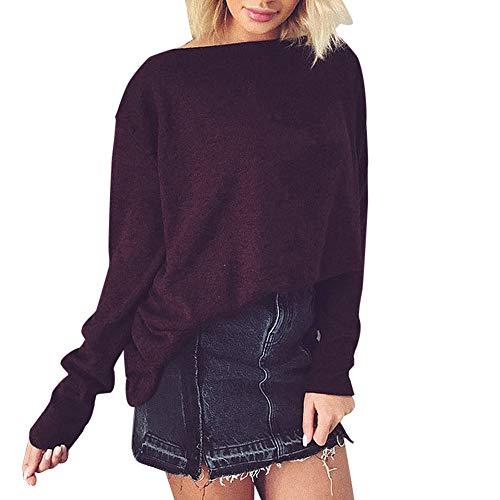 Damen Tops Pullover Langarmshirt Sweatshirt Jumper Oberteile Elegant -