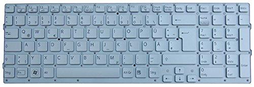 NExpert deutsche QWERTZ Tastatur für Sony Vaio VPC-CB VPCCB2S1E VPCCB3S1E VPCCB4Z1E Series Silber Rahmen