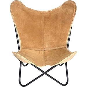 Bauhauschairs Butterfly Chair Spirit Camel Leder Schmetterlingsstuhl