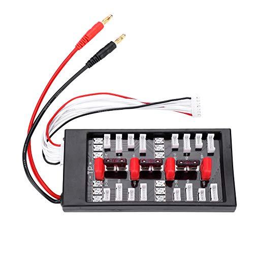 Dilwe Parallelladeplatine, JST-XH T-Stecker Parallelladegerät Karte Extender Konverter Ladeplatte LiPo Lithium-Ionen Life Batterie RC B6 Ladegerät Zubehör Life Extender