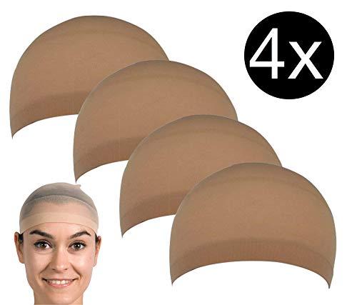 TK Gruppe Timo Klingler 4X universal Haarnetz Perücken Netz Unterziehhaube Kopfhaube Perückenhaube für Haare
