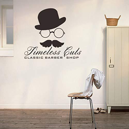 Persönlichkeit hut brille bart vinyl wandtattoo wohnkultur wohnzimmer schlafzimmer diy kunst tapete entfernbare wandaufkleber 42 * 48 cm