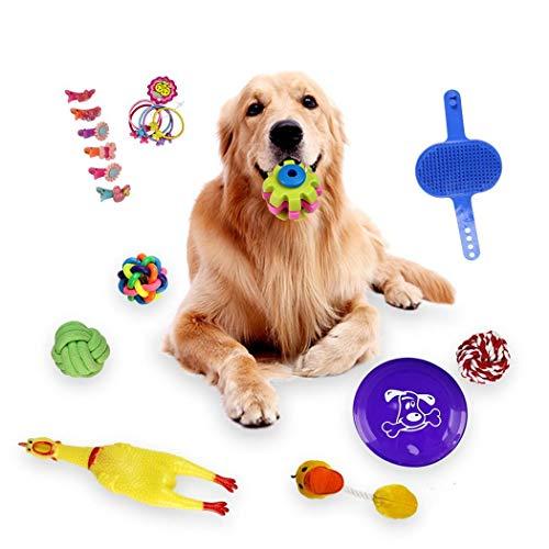 cokil Hund Molar Biss-resistente Spielzeug Kit 18stl Haustier liefert Spielzeug Spielzeug - Resistent Kit