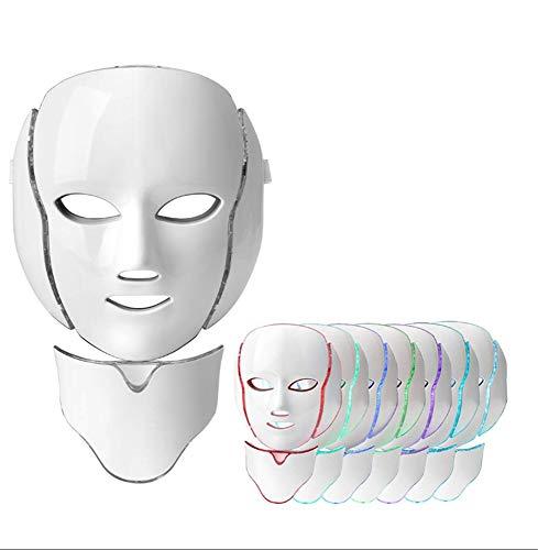 Rouge 7 Farben Licht Led Gesichtsmaske Hautverjüngung Gesichtspflege Behandlung Beauty Whitening Instrument Heimgebrauch Phototherapie Maske Beauty Instrument